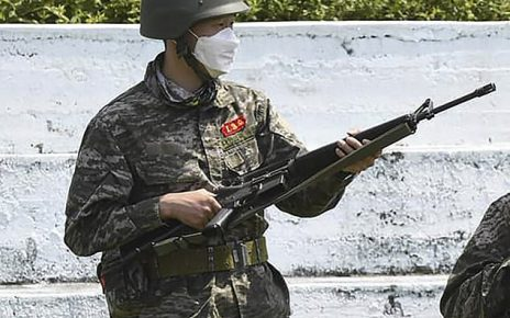 ซน ฮึง มิน ฝึกทหารเสร็จยิงเป้า 10 เต็ม 10